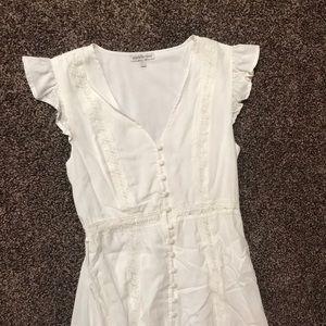 White High-Low Dress
